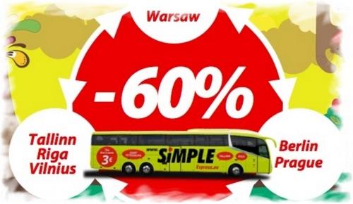 Скидка на автобусы Simple express 60