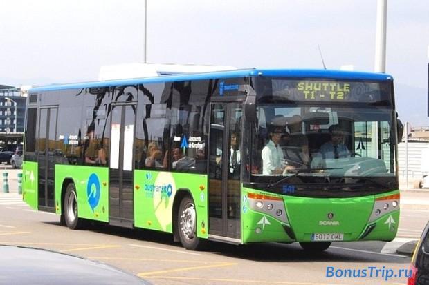 Автобус между терминалами аэропорта Барселоны