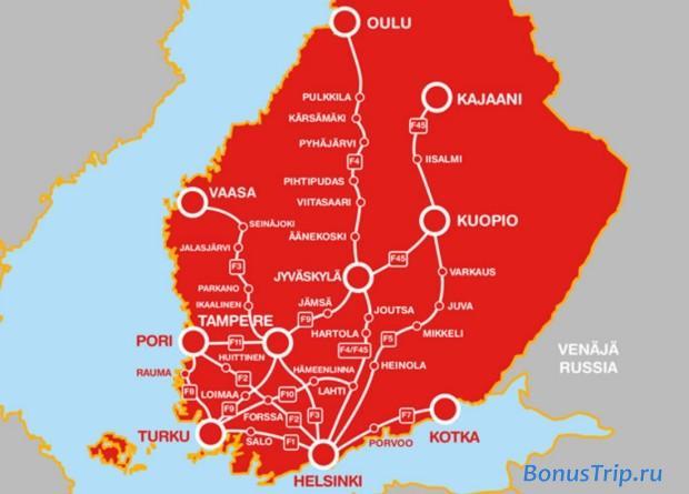 Карта маршрутов OnniBus