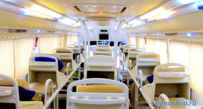 Спальный автобус из Ханоя в Хошимин - возможность спать в дороге